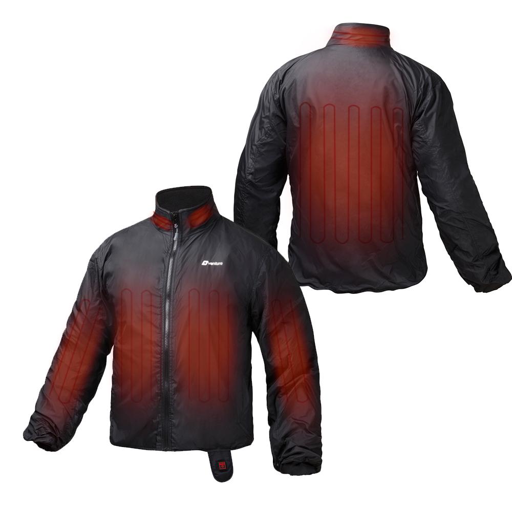jakke med varmeelement